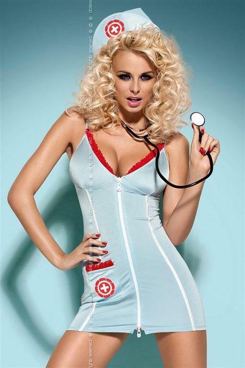 Dámský kostým Doctor dress stetoskop - S/M - viz foto