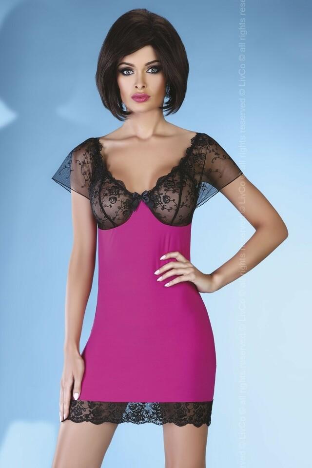 Erotická košilka Adonisa pink - S/M - růžová