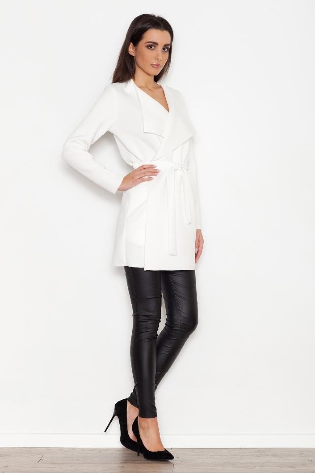 Dámský kabátek K257 - Katrus - XL - ecri(krémová)