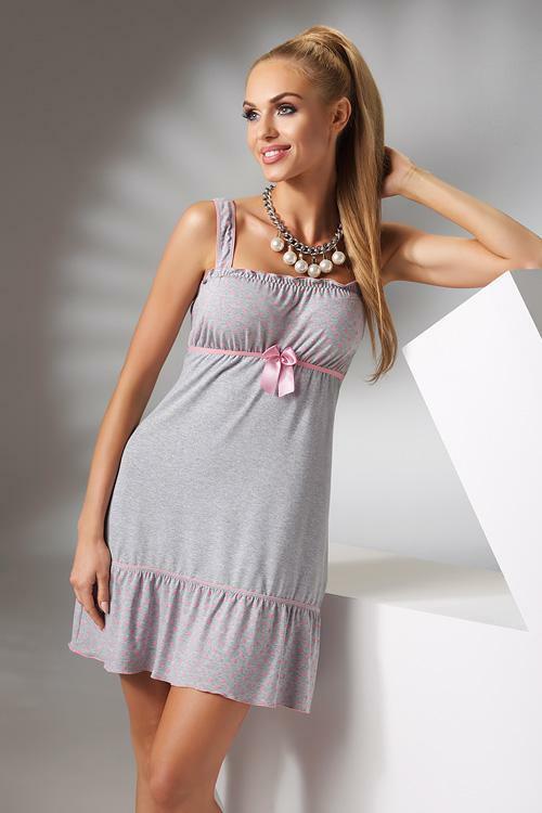 Noční košilka Donna Sia grey - S - šedá