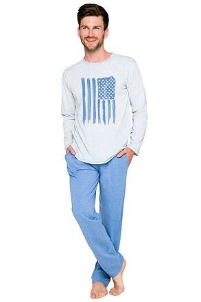 Pánské pyžamo Karel americká vlajka - S