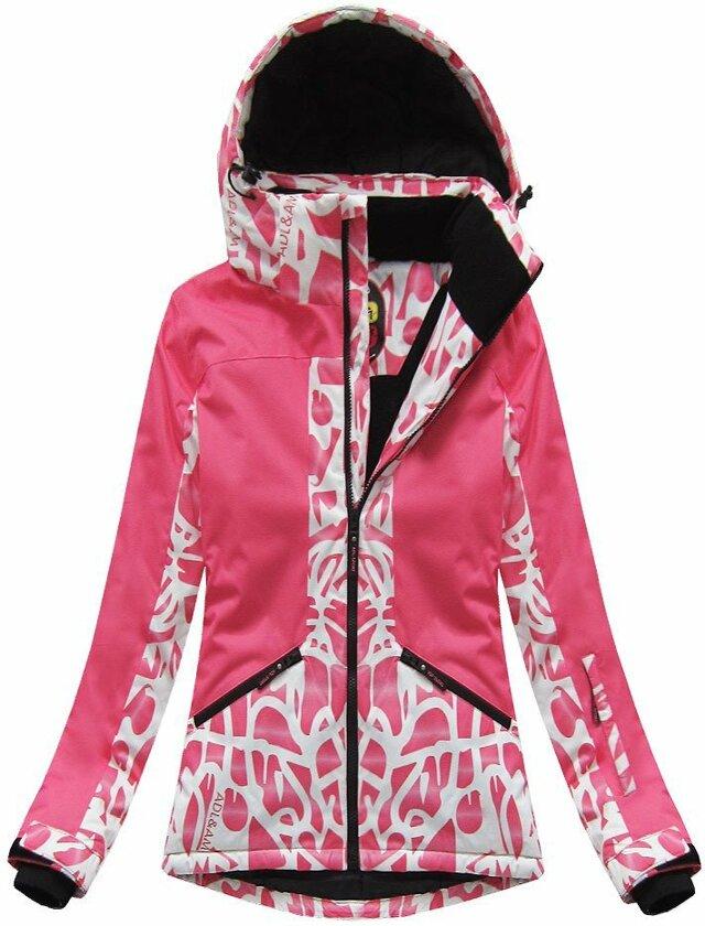 Růžová dámská zimní bunda s membránou (W187) - S (36) - růžová