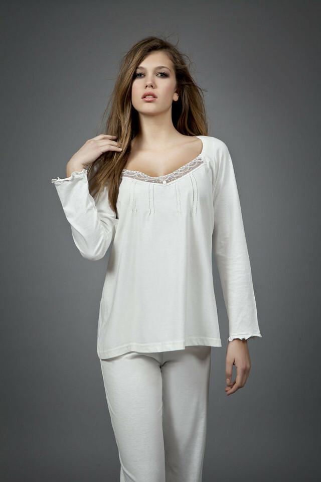 Dámské pyžamo 1454 - Vamp - XXL - krémová