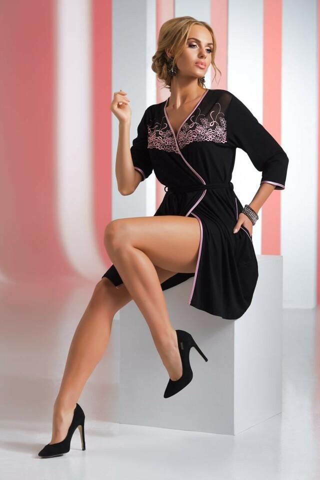 Dámský župan Livia - Donna - XXXL - černá