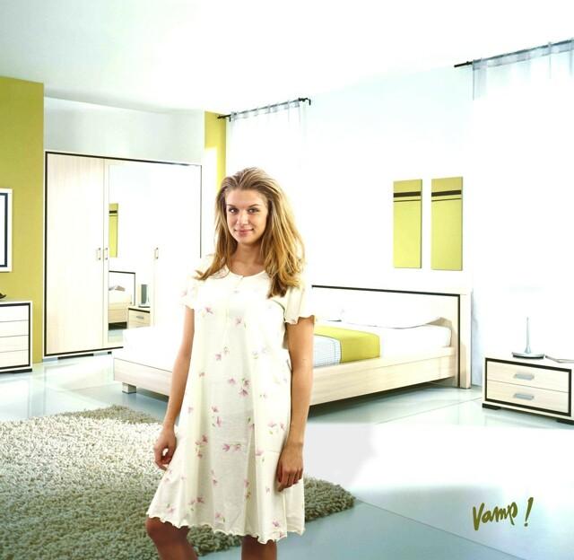 Noční košile 8575-Vamp - S - lemon