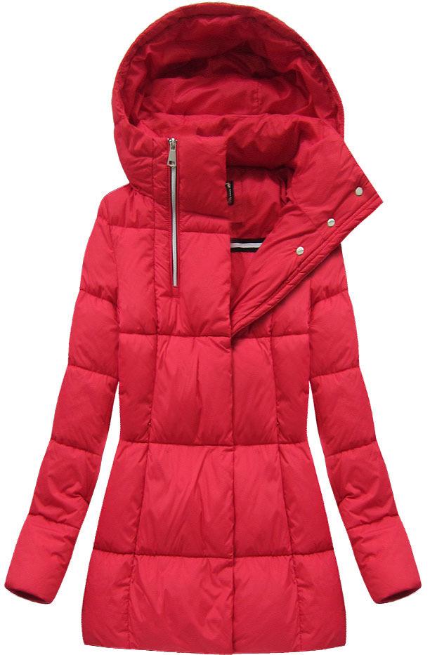 Červená dámská zimní bunda krátká (7750) - S (36) - červená