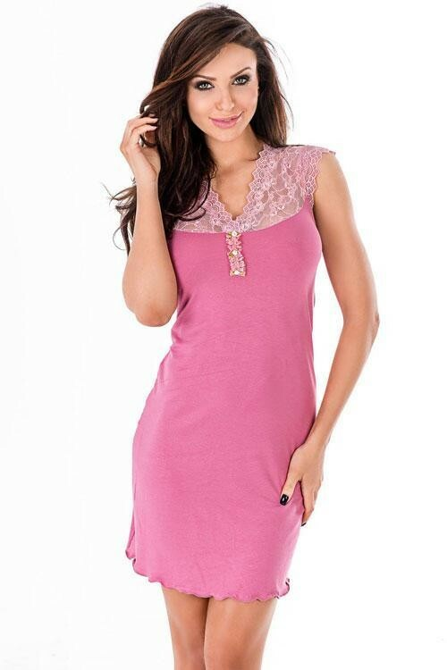 Noční košilka Hamana Melani II rose - XL - staro růžová