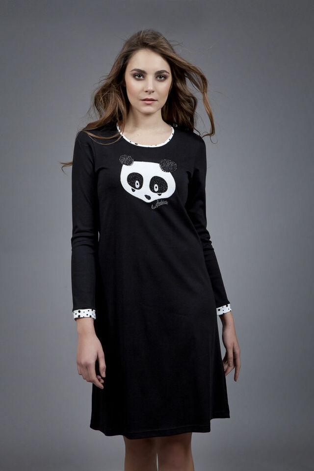 Dámská noční košile 1580 - Vamp - L - černá
