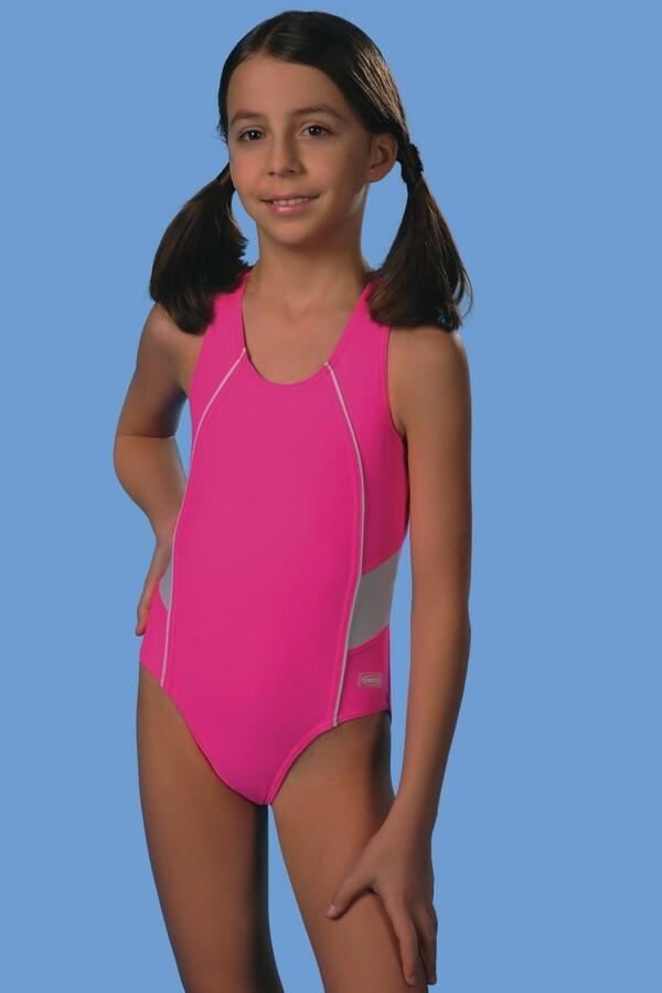 Jednodílné plavky dívčí Britta - Gwinner - 140 - růžova