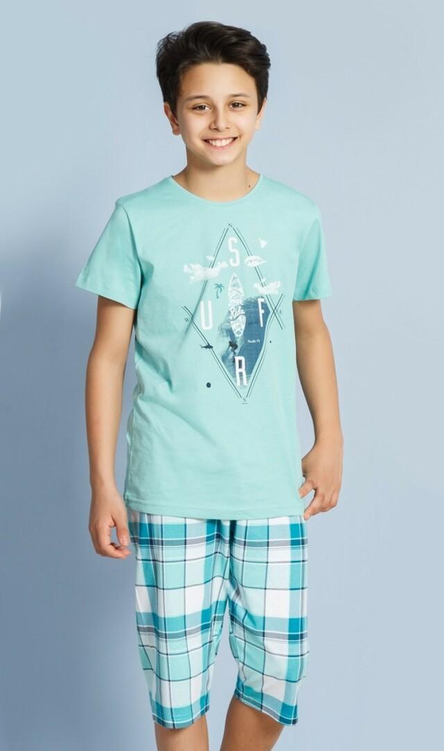 Dětské pyžamo kapri Surf - světle modrá 9 - 10