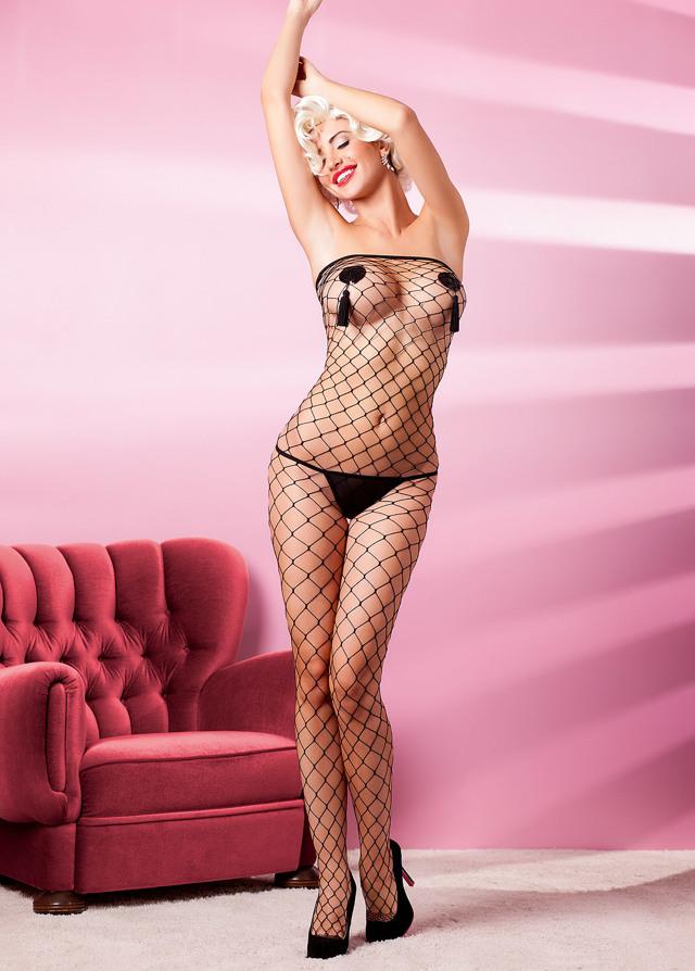 Sexy šaty Estamo - Anais - S/M - bílá