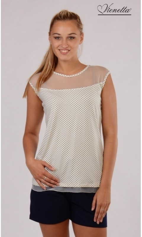 Dámské pyžamo krátké Vienetta Secret 4937 Julie - XL - starorůžová