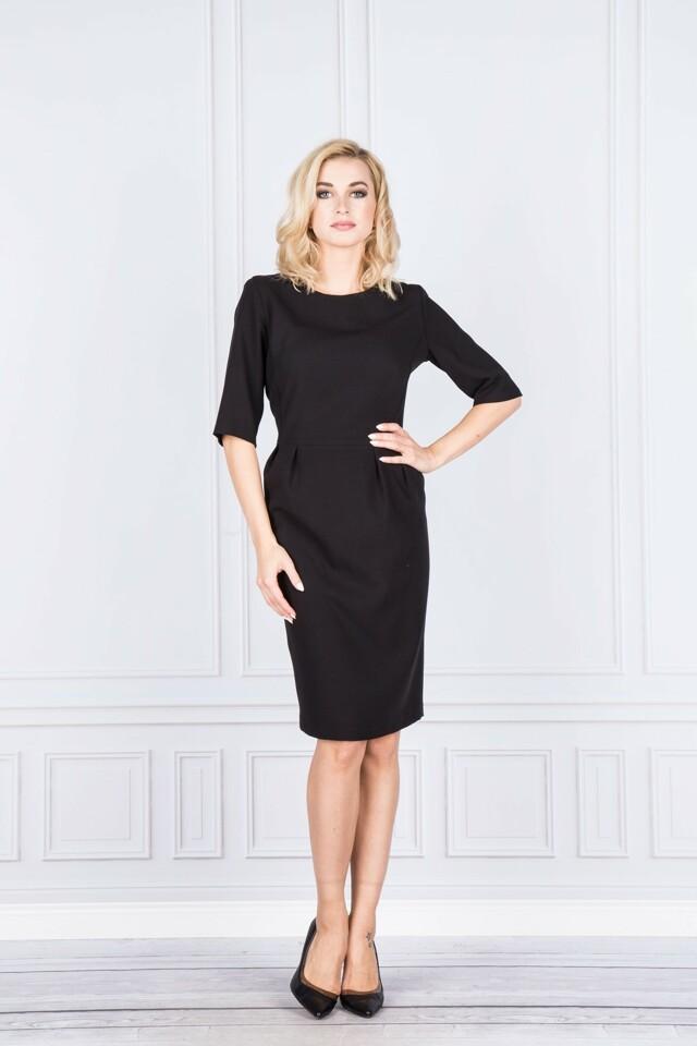 Dámské koktejlové šaty M37288 - FASONE - 40 - černá