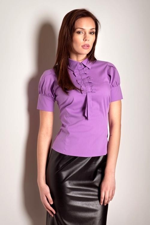 Dámská košile M008 violet - XXL - lila