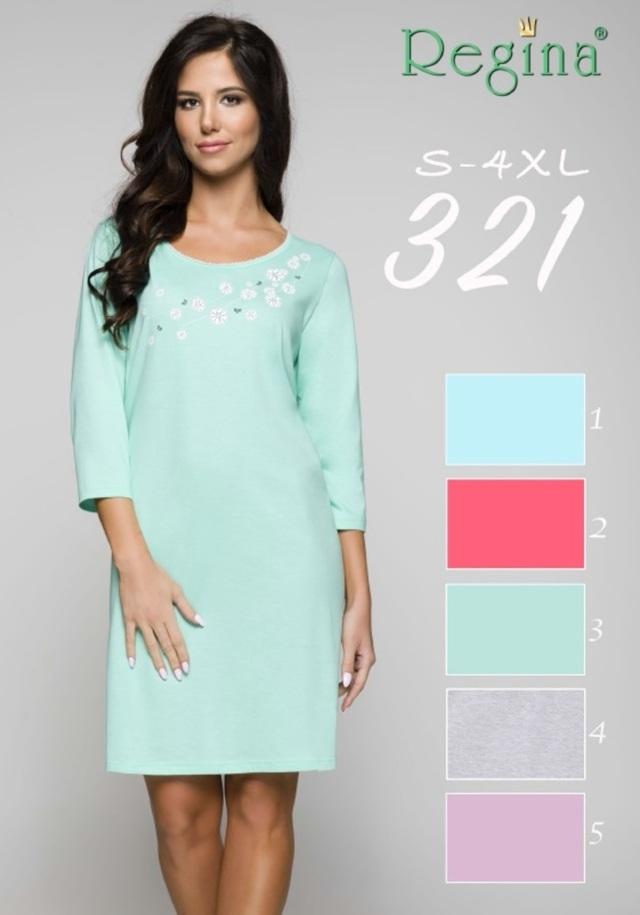 321BIG Dámská noční košile - zelená - 2XL
