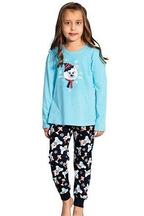 Dětské pyžamo Medvídek Míša modré - 104