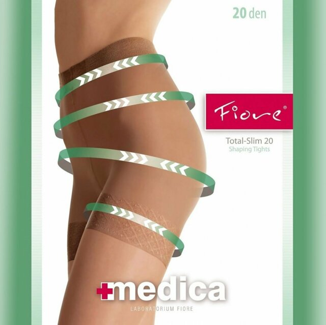 Zdravotní punčochové kalhoty Total Slim 20 DEN - Fiore - 3 - grafit