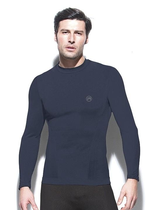 Pánské bezešvé triko dlouhý rukáv Active-Fit Barva: - Modrá, Velikost S/M