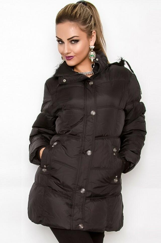 Dámská zimní bunda s kapucí - M/L