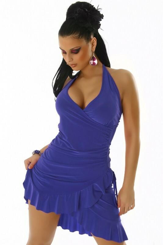 Letní šaty s volánem - S/M
