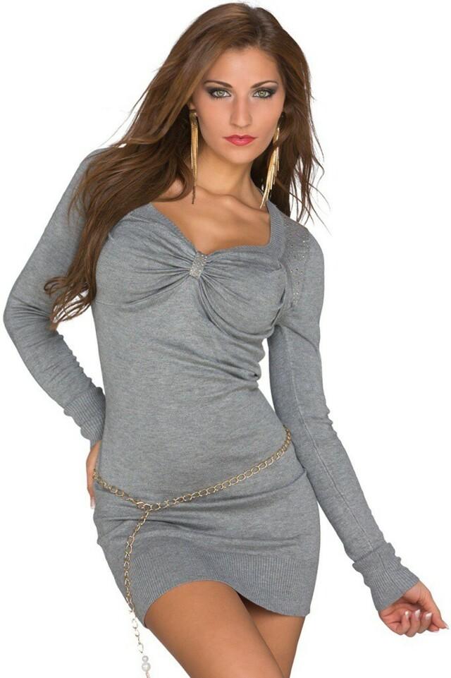 Úpletové šaty - M/L