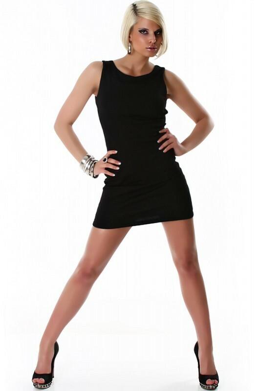 Černé šaty - L