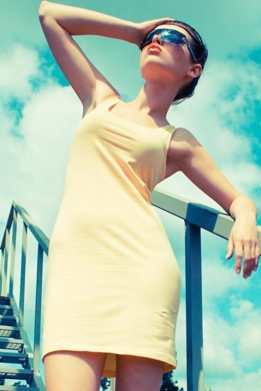 Letní mini šaty - M/L