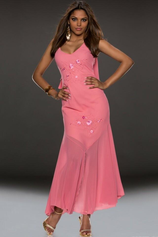 Dlouhé plesové šaty - L