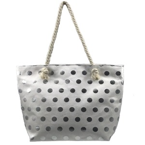 e31e8d3f9e Plážová taška Fashion Only Dot - stříbrná stříbrná