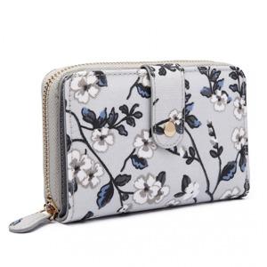 Peněženka Flower - šedá