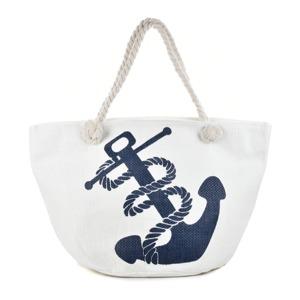 cde2c49fd1 Plážová taška Anchora - bílá