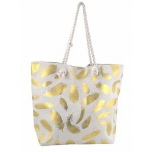 f20c70d3d2 Plážová taška Susi Beach - krémová   zlatá