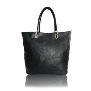 Kabelka Corina Shopper kožená - černá