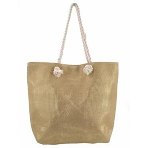 bb4fb001a1 Plážová taška Metallic Beach - béžová   zlatá