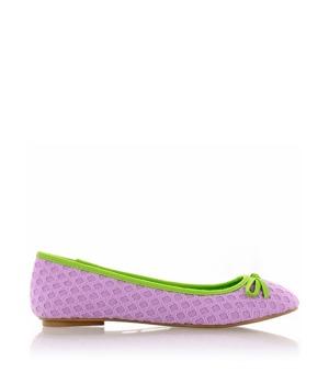 Pletené fialové baleríny Qube 40