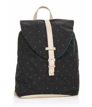 Černý batoh s bílými pásy MTNG