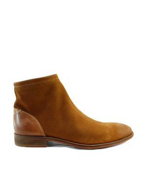 Hnědé pánské kožené kotníkové boty Paolo Vandini