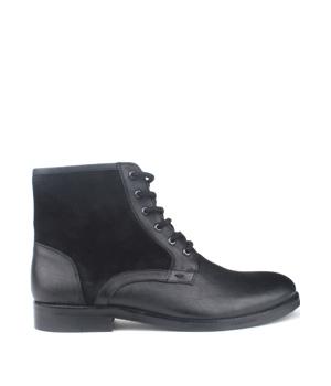 5b8313c7b42 Černé pánské kožené šněrovací boty Paolo Vandini – ON-LINE KATALOG