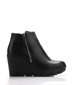 Koupit Černé boty na klínku se zipem Claudia Ghizzani