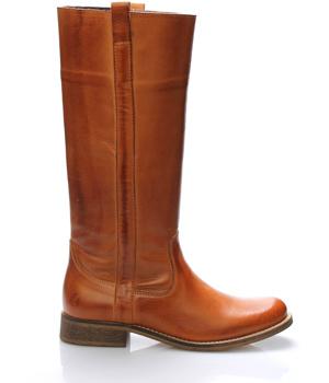 b2631201076 Hnědé kožené nižší kozačky Online Shoes – ON-LINE KATALOG