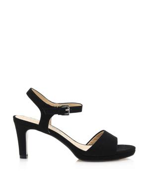 0a6f969bee68 Černé sandály na nižším podpatku Maria Mare