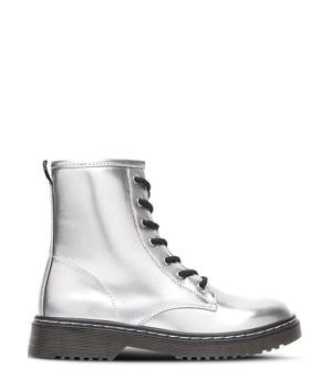 0742416b92a Stříbrné kotníkové šněrovací boty Break Walk – ON-LINE KATALOG