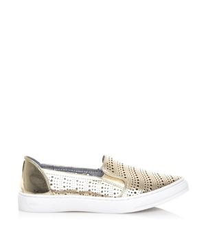 Koupit Zlaté perforované nazouvací boty Maria Mare