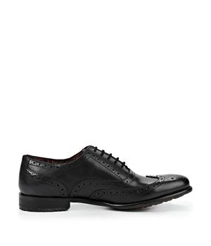 Černé kožené boty Oxford Paolo Vandini 44