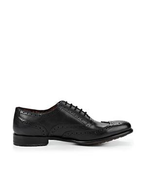 Černé kožené boty Oxford Paolo Vandini