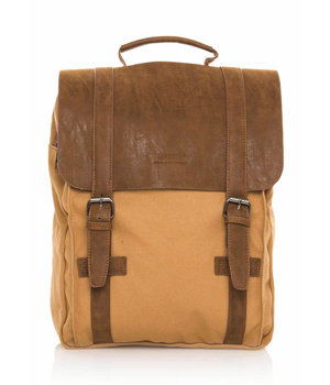 Hnědý plátěný batoh MTNG