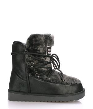 Černé boty s kožíškem D.Franklin