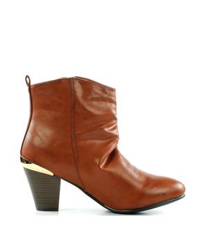 703b37019a5 Brandy kotníkové boty na podpatku se zipem Claudia Ghizzani