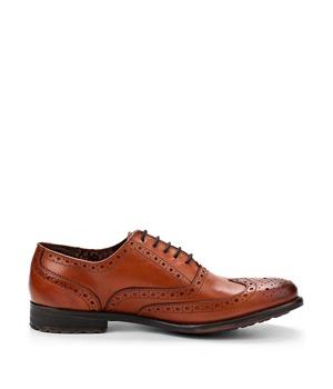 Hnědé kožené boty Oxford Paolo Vandini 44