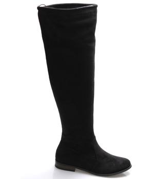 Černé vysoké kozačky Monshoe
